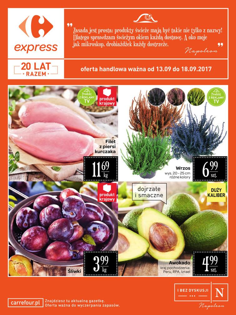 Gazetka sieci Carrefour, ważna od 2017-09-13 do 2017-09-18, strona 1