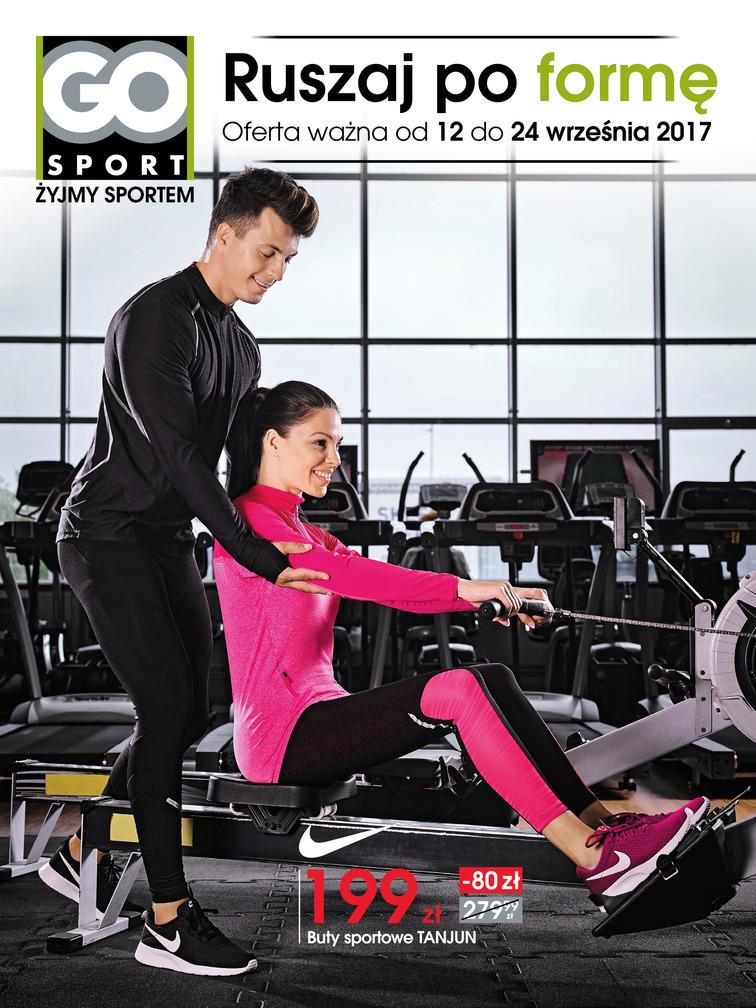 Gazetka sieci Go Sport, ważna od 2017-09-12 do 2017-09-24, strona 1