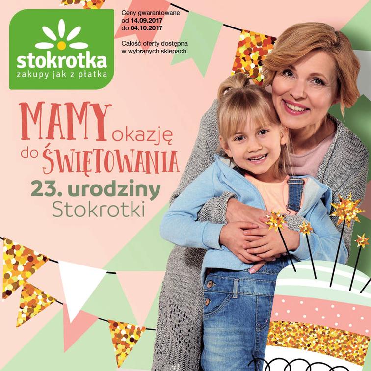 Gazetka sieci Stokrotka, ważna od 2017-09-14 do 2017-10-04, strona 1