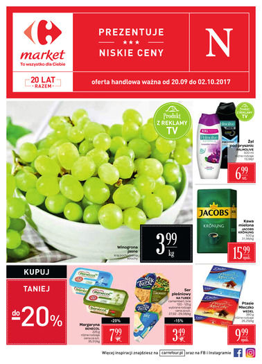Gazetka promocyjna Carrefour, ważna od 20.09.2017 do 02.10.2017.