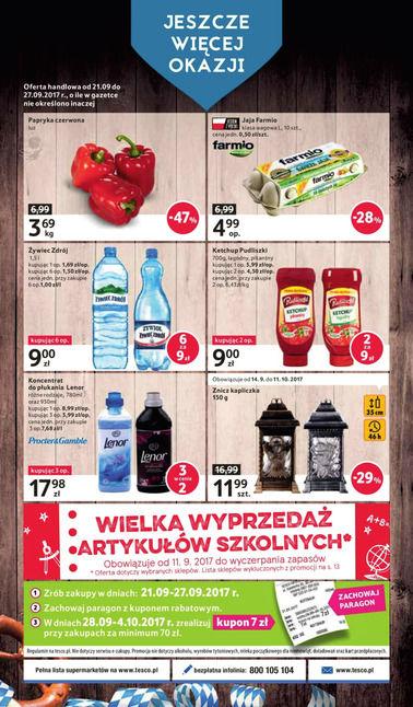 Gazetka promocyjna Tesco, ważna od 21.09.2017 do 27.09.2017.