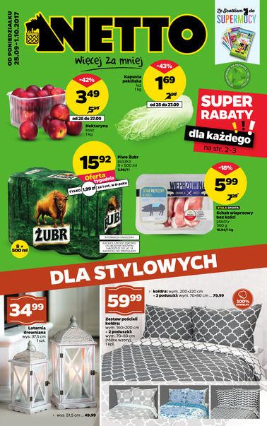 Gazetka promocyjna Netto, ważna od 25.09.2017 do 01.10.2017.