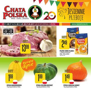 Gazetka promocyjna Chata Polska, ważna od 21.09.2017 do 27.09.2017.
