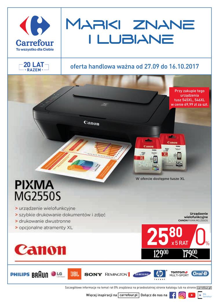 Gazetka sieci Carrefour, ważna od 2017-09-27 do 2017-10-16, strona 1