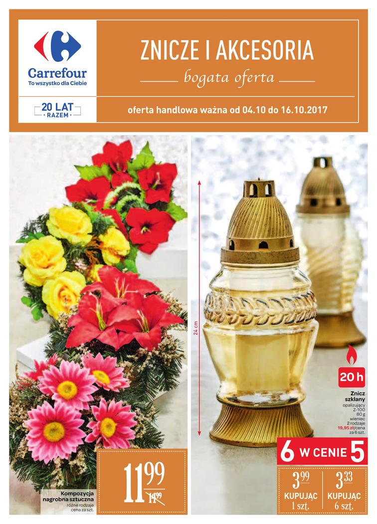 Gazetka sieci Carrefour, ważna od 2017-10-04 do 2017-10-16, strona 1