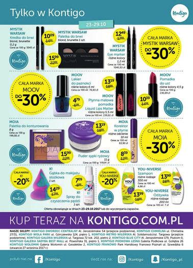 Gazetka promocyjna Kontigo, ważna od 03.10.2017 do 31.10.2017.