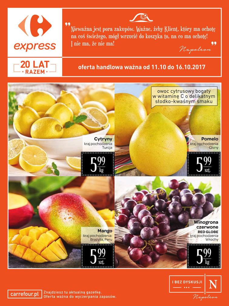 Gazetka sieci Carrefour, ważna od 2017-10-11 do 2017-10-16, strona 1