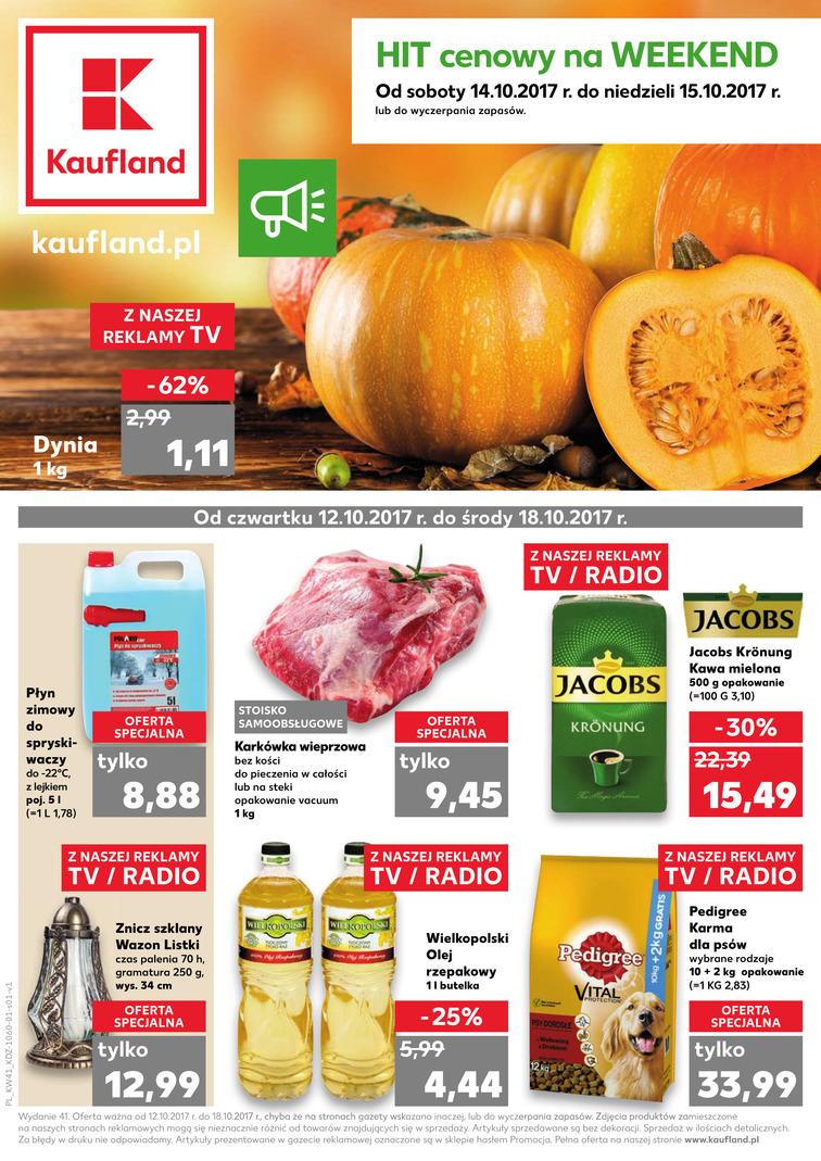Gazetka sieci Kaufland, ważna od 2017-10-12 do 2017-10-18, strona 1