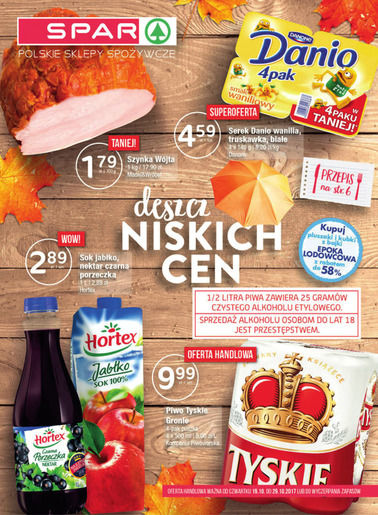Gazetka promocyjna Spar, ważna od 19.10.2017 do 29.10.2017.