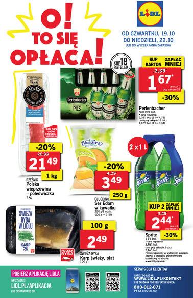 Gazetka promocyjna Lidl, ważna od 19.10.2017 do 22.10.2017.