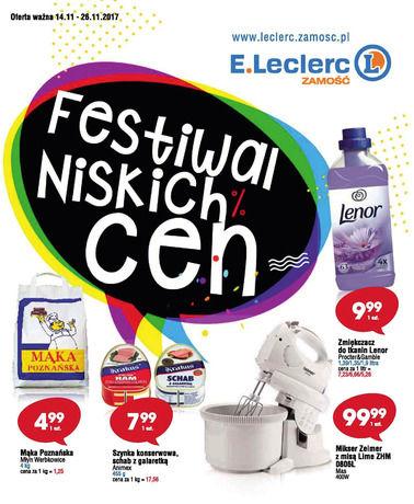 Gazetka promocyjna E.Leclerc, ważna od 14.11.2017 do 26.11.2017.