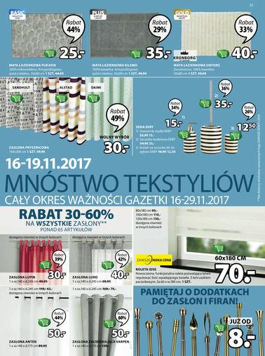Gazetka promocyjna Jysk, ważna od 16.11.2017 do 29.11.2017.