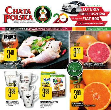 Gazetka promocyjna Chata Polska, ważna od 02.11.2017 do 12.12.2017.