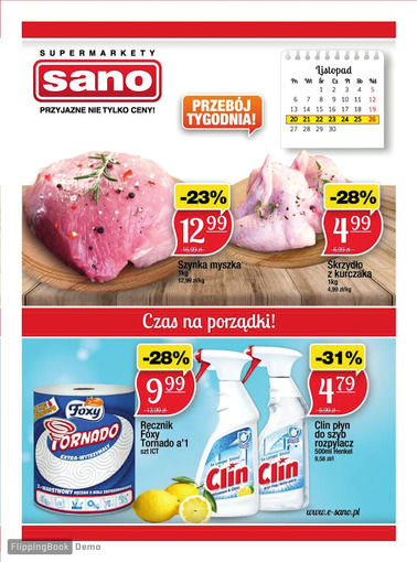 Gazetka promocyjna Sano, ważna od 20.11.2017 do 26.11.2017.