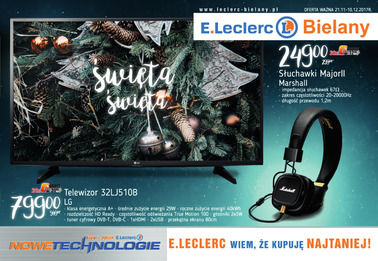 Gazetka promocyjna E.Leclerc, ważna od 21.11.2017 do 10.12.2017.