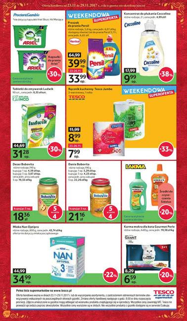 Gazetka promocyjna Tesco Supermarket, ważna od 23.11.2017 do 29.11.2017.