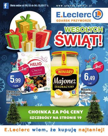Gazetka promocyjna E.Leclerc, ważna od 05.12.2017 do 24.12.2017.