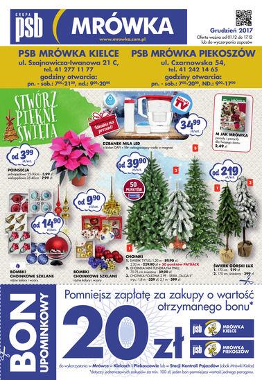 Gazetka promocyjna PSB Mrówka, ważna od 01.12.2017 do 17.12.2017.