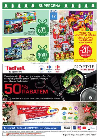 Gazetka promocyjna Carrefour, ważna od 11.12.2017 do 17.12.2017.