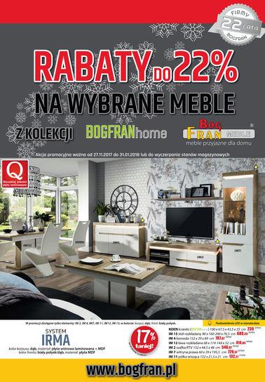 Gazetka promocyjna BOG-FRAN, ważna od 27.11.2017 do 31.01.2018.