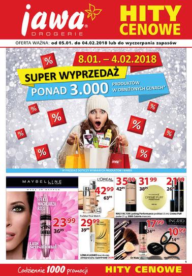 Gazetka promocyjna Drogerie Jawa, ważna od 05.01.2018 do 04.02.2018.
