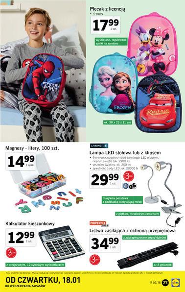Gazetka promocyjna Lidl, ważna od 15.01.2018 do 21.01.2018.