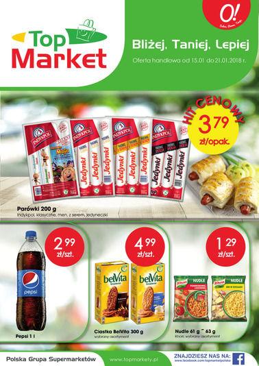 Gazetka promocyjna Top Market, ważna od 15.01.2018 do 21.01.2018.