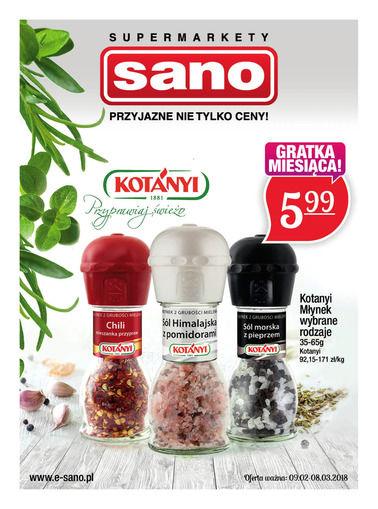 Gazetka promocyjna Sano, ważna od 09.02.2018 do 08.03.2018.