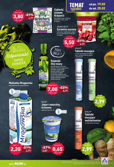 Gazetka promocyjna Aldi, ważna od 19.02.2018 do 28.02.2018.