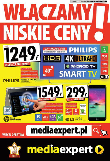 Gazetka promocyjna Media Expert, ważna od 01.03.2018 do 21.03.2018.