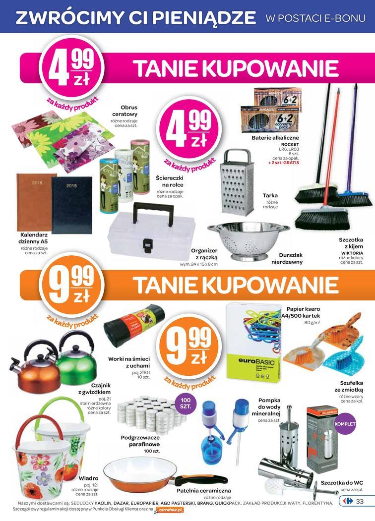 Gazetka sieci Carrefour, ważna od 2014-10-01 do 2014-10-06, strona 33
